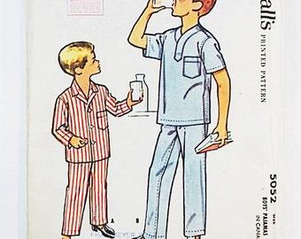 McCall's 5052 Boy's Pajamas Pattern | 1959 McCall Pajama Pattern | Boy's 14