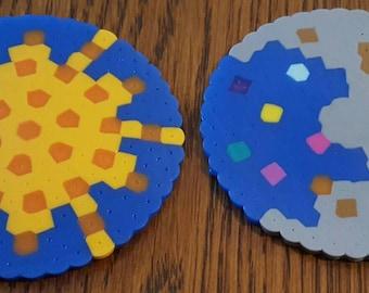 Sun & moon coaster set