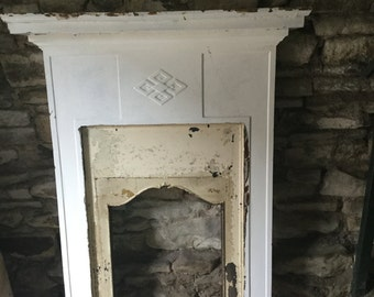 Vintage English Cast Iron Fire Surround