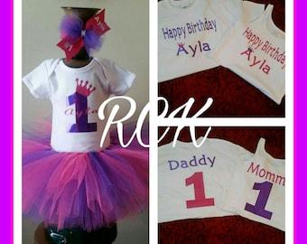 1st Birthday Princess Tutu Set