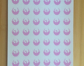 Pink Circle Swan Stickers - 108 stickers