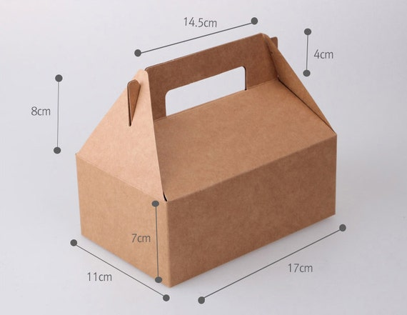 4 black gable boxes wedding favor baby shower favor for Black box container studios