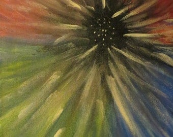 Abstract Flower Acrylic Painting