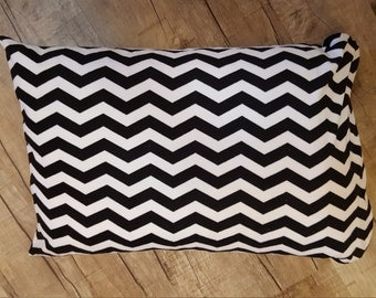 Black and White Chevron Minky Pillowcase