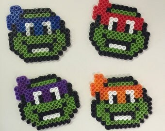Teenage Mutant Ninja Turtles Perler bead Magnets - Set of 4