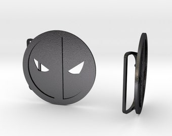 Deadpool Belt Buckle | 3D Printed Steel Belt Clasps
