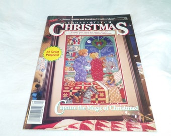 Counted Cross Stitch, Christmas 1992, Better Homes & Gardens Magazine, 55 Projects Christmas Village Ornaments plus