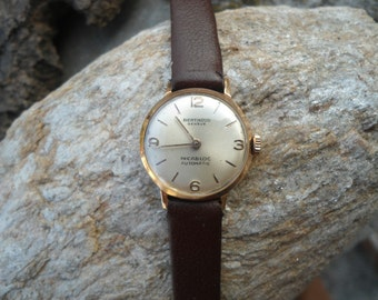 Gold watch Bethoud, ladies gold watch, 18 k gold watch, vintage gold watch, retro gold watch, Swiss gold watch, gold watch