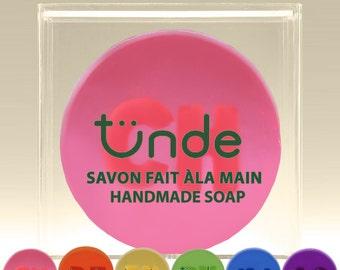 Rainbow custom monogram handmade soap