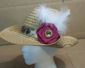 Women's Tan Cowboy Hat