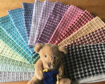 Baby washcloths - baby wash cloths -  cotton dishcloth -woven washcloth - wash cloth - cotton dishcloth -  dish cloth - wash cloths