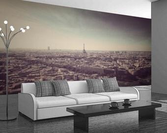 Beautiful & Romantic Paric - Removable Fabric Wall Mural - Self-Adhesive Repositional Wallpaper - Full Sizes
