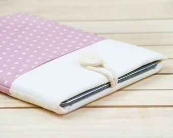 iPad Air case, iPad cover, iPad sleeve, iPad pro sleeve, iPad Air 2 case, padded - rose dots