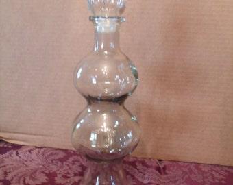 Decorative Clear Glass Bottle