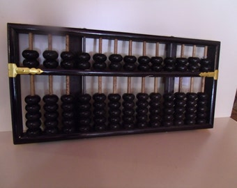 Vintage  brass and black Chinese abacus