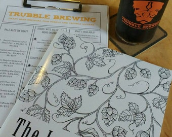 Adult Coloring Book for beer enthusiasts!