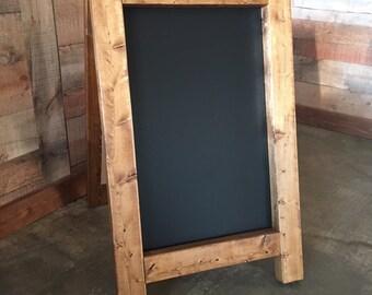 Double-Sided Rustic Chalkboard Easel