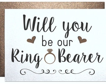 Will you be my ring bearer card from groom engagement groomsman best man wedding party invitation wedding bachelor party for