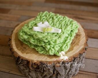 Hand-spun and Dyed Knit Basket Stuffer and Headband Set