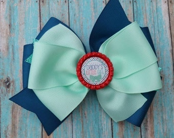 Daddy's little girl bow, pinwheel bow, Daddy's little girl