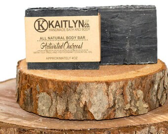 Soap, All Natural, Handmade, Activated Charcoal, Peppermint Soap, Tea Tree Soap