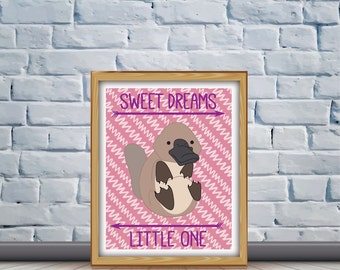 Platypus Nursery Quote Print