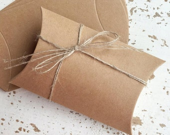 Kraft Brown Pillow Box Pk10 Large / Favour Boxes