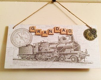 Handmade plaque for Grandad /Dad