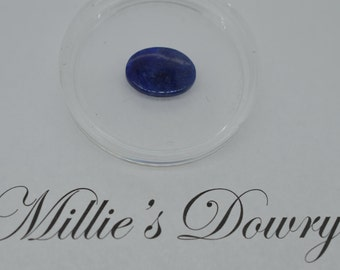 Lapis Flat Oval Disc 16x12mm - Blue Denim