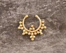 Fake Septum brass ring