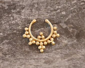 Fake Septum brass ring