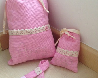 Set for baby: Multipurpose bag, pacifier pod and chupetero