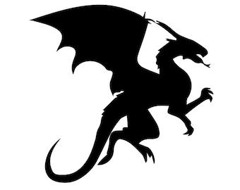 SVG Dragon  svg, Dragon  eps, Dragon  silhouette, Dragon files  , silhouette files, cutting files, instant download, silhouette,cutting file