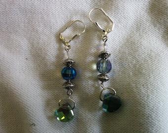 Blue crystal earrings 2