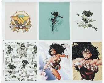 Wonder Woman Oxford Fabric made in Korea DC Comics Fabric By the Panel