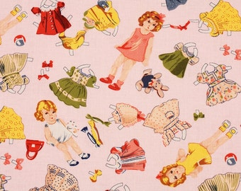 Dolly Paper Dolls Fabric by Timeless Treasures Fabrics by the Half Yard