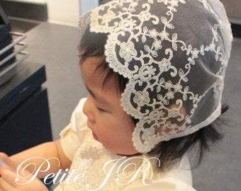 Baby bonnet b3, lace bonnet,toddler bonnet baptism bonnet linen baby hat,linen bonnet, 3-6 mo, 6-12 mo, 12-24 mo 24-48 mo sizes