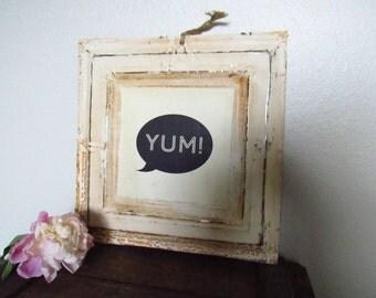 Vintage Inspired Metal Sign - Yum
