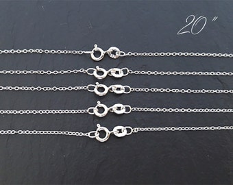 20 Inch Chain, Sterling Silver Chain, Wholesale Chain, Silver Chain, Sterling Chain, Silver Chain Bulk,