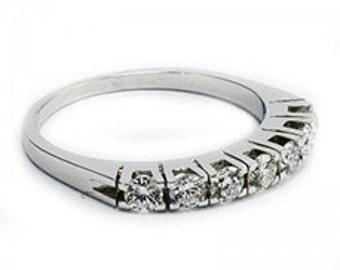Ring white gold 14K, 14K yellow diamond 0.36 CT