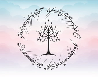 Lord of the rings inspired white tree of gondor vector SVG file for cutting machines Printing Design for circut For silhouette