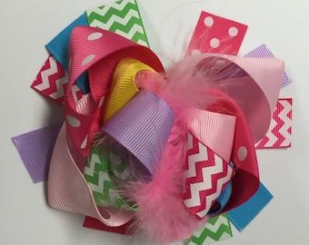 Baby Hair Bow, Korker Hair Bow, Baby Girl, Toddler Girl, Clip On, Hair Accessory, Girls, Baby Girl Headband, Bow, Ribbon Hair Bow, Newborn