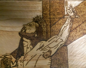 our lord on the cross asking forgiveness for man for they no not what they do