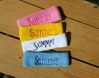 Personalized Terry Cloth Headband