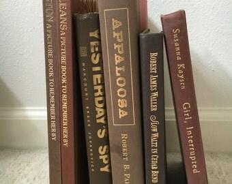 Vintage Brown Books