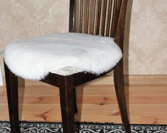 Sheepskin Chair Cushion, Pets Bedding mat-pad.