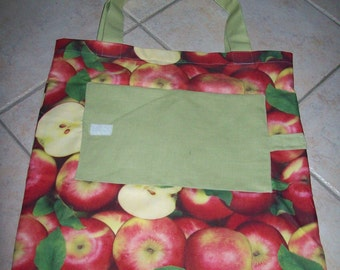 "foldable bag ""apples"""