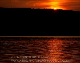 Sunset, End of Day, Peaceful, Orange, Water, Reflection, Lake