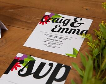 Vintage Twist Wedding Invitation
