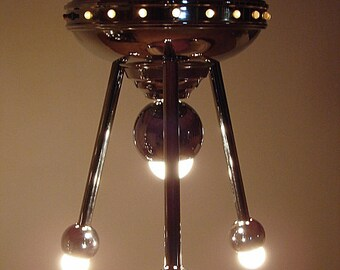 Torino robot chrome lamp UFO Flying saucer spaceship